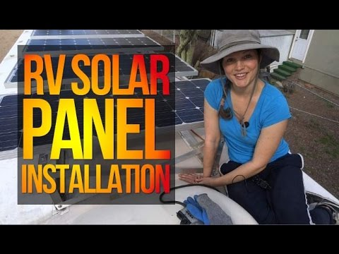 RV Solar Panel Installation part 1