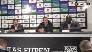 Réaction de John Bico après la défaite à Eupen (3-1)