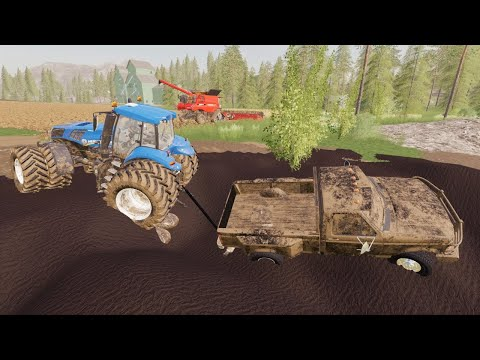 Helping farmer after storm and we get stuck in mud | Suits to boots 15 | Farming Simulator 19 |