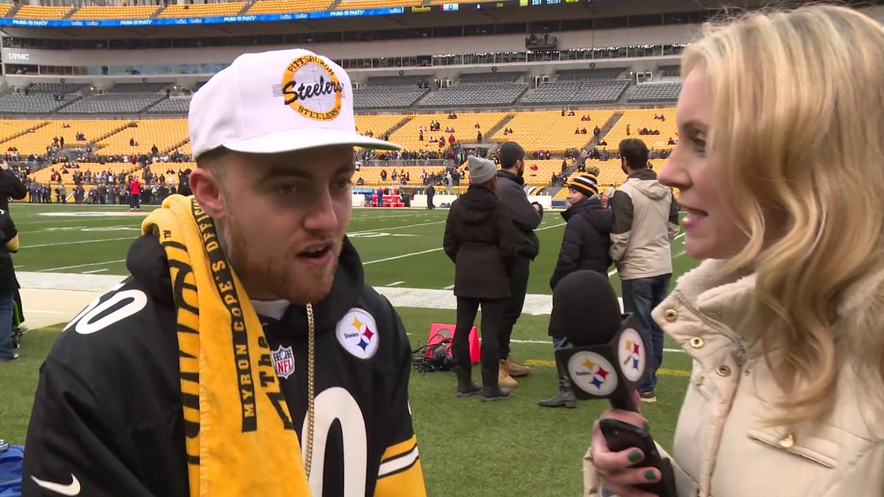 wholesale dealer 1ce63 2cff3 Pittsburgh Steelers Player Honors Mac Miller With Custom ...