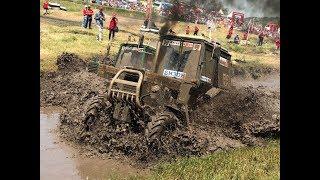 Видео 360: гонки на тракторах на Бизон-Трек-Шоу