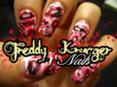 Halloween Freddy Krueger Nails Youtube