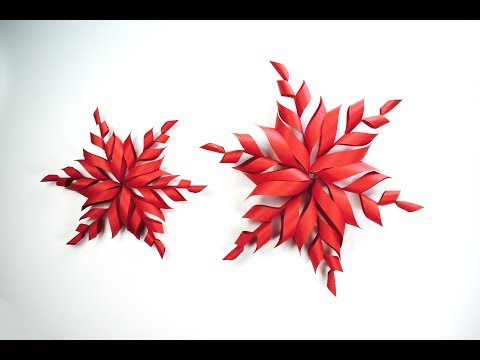 Paper Snowflake | How to make origami Snowflake | Christmas Decor