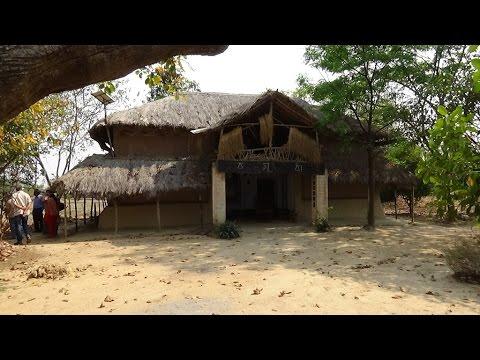 Ecological architecture at Basudha farm, Bankura, West Bengal.