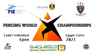 Fencing World Championships Egypt Cairo 2021 - Cadet Individual Epee