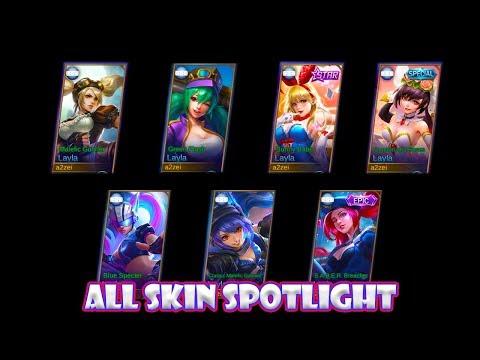 Mobile Legends Layla All Skin Spotlight