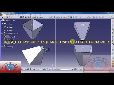 HOW TO DEVELOP A BASIC GENERAL SQUARE CONE 3D || 3 DIMENSTIONAL MODEL IN CATIA TUTORIAL #102