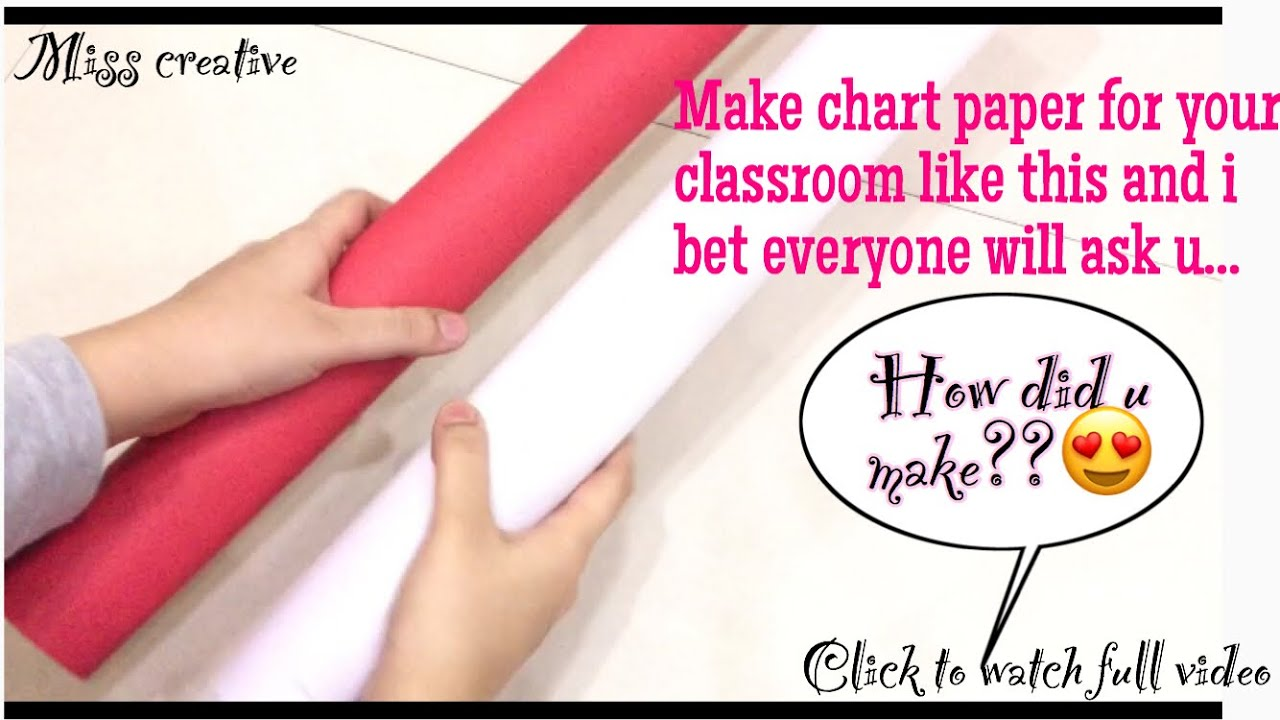 Chart paper decoration ideas part 3/how to make chart paper with border  design/classroom decoration