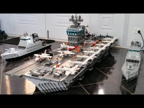 Custom LEGO Aircraft Carrier, Tanks, Planes & More - by TWoods2001