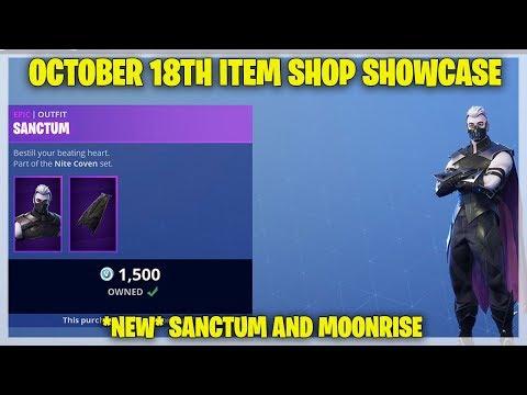 Fortnite Item Shop [October 18, 2018] New Sanctum and Moonrise (Fortnite Battle Royale)