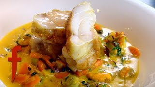 Gordon Ramsay Demonstrates How To Make Monkfish with a Mussel Broth thumbnail