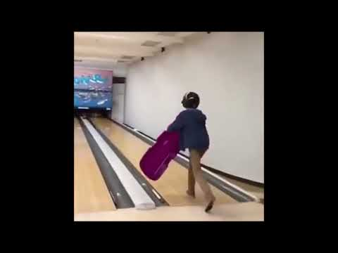 Dan the Meme Man Sledging Up the Bowling Alley