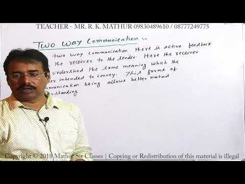 Two Way Communication Communication | Business Communication | Business Studies | Mathur Sir Classes