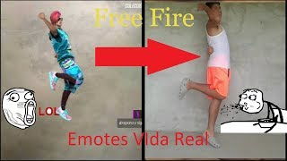 PARODIA| Emotes Free Fire Vida Real!!