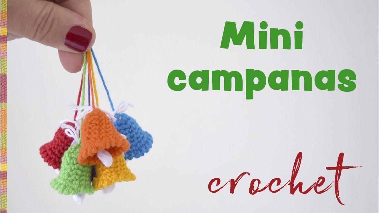 Mini campanas tejidas a crochet - Despedida / Tejiendo Perú - YouTube
