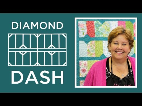 Make A Diamond Dash Quilt With Jenny Doan Of Missouri Star! (Video Tutorial)