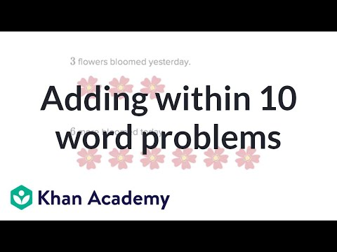 Addition Word Problems Within 10 | Basic Addition And Subtraction | Early Math | Khan Academy