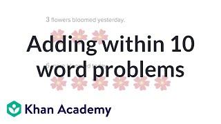 Outre des problèmes de langage dans les 10 | de Base de l'addition et de la soustraction | Début de Mathématiques | Académie Khan