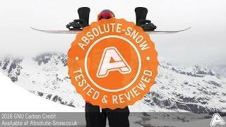 2015 / 2016 | GNU Carbon Credit Snowboard | Video Review