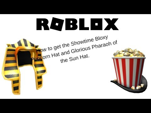 ROBLOX | How to get the Bloxy Popcorn hat and the Pharaoh hat in Roblox | ROBLOX