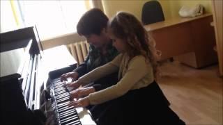 Развивающее обучение, первые уроки на фортепиано.The first lessons. Импровизация