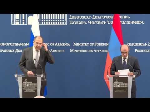 Пресс-конференция С.Лаврова и А.Айвазяна, Ереван, 6 мая 2021 года