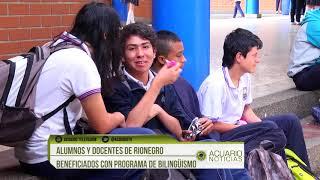 Alumnos y docentes de Rionegro beneficiados con programa de bilingüismo