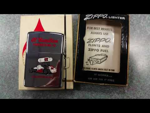ZIPPO 1776 Bicentennial AL HAMILTON CONTRACTING CO CLEARFIELD PA Race Car 1976 Lighter