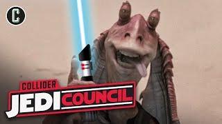 Jar Jar Binks Gets a Lighstaber?!?! - Jedi Council