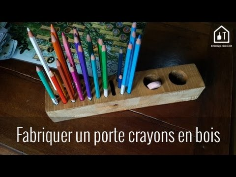 tuto fabriquer un porte crayons en bois bricolage. Black Bedroom Furniture Sets. Home Design Ideas
