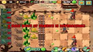 Plants vs Zombies 2: Wild West Day 19 Walkthrough