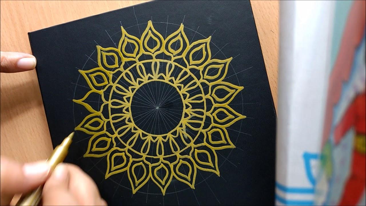 Diy Book Cover Design : Diy book cover mandala design youtube