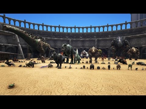 Dung Beetle level 1.000.000 vs all Creatures in ARK! || Cantex