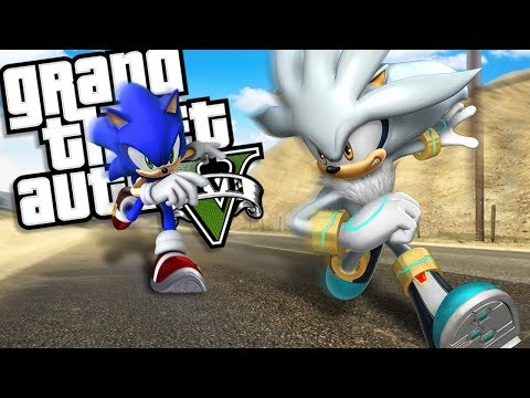SONIC THE HEDGEHOG brings back SILVER THE HEDGEHOG MOD (GTA 5 PC Mods Gameplay)