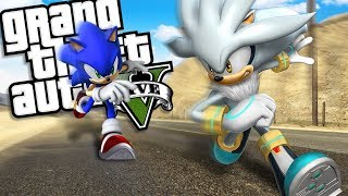 SONIC THE HEDGEHOG brings back SILVER THE HEDGEHOG MOD GTA 5 PC Mods Gameplay