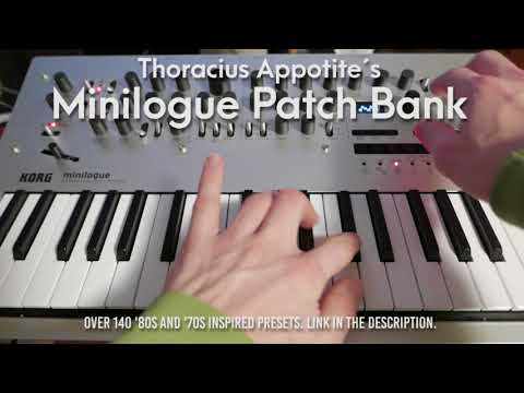 140+ original Minilogue patches by Thoracius - Classic, Retro, Vintage, Analog