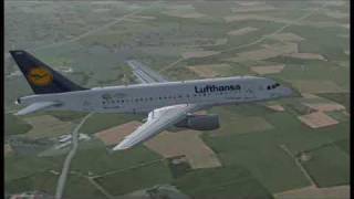 Flight Simulator 2004 Airbus a318 Lufthansa Frankfurt - Vienna HD