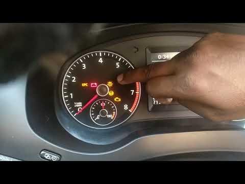 Bulb Warning Light On VW Car Light Failure Bulb Change