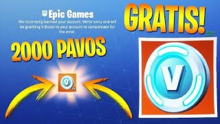 "FORTNITE REGALA ""2000 PAVOS GRATIS"" SI HAS HECHO ESTO 