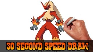 Blaziken (Pokemon)- Speed Draw Preview
