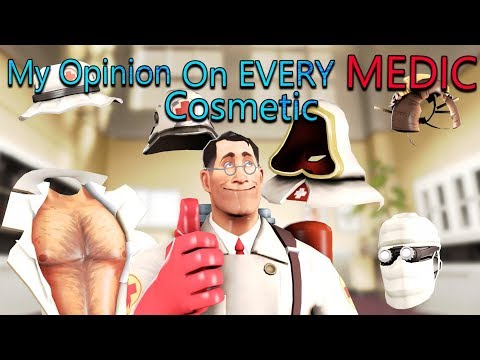 TF2 - My Opinion On EVERY Medic Cosmetic In Under 6 Minutes!