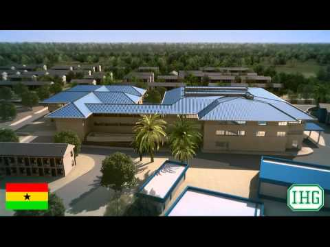Ghana Police Hospital Fly Around