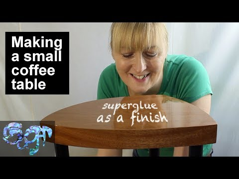 Making a small coffee table - using superglue (CA glue) as a finish