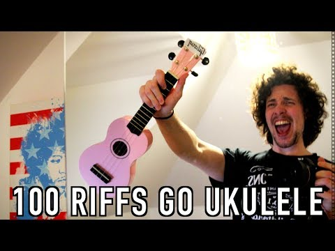 Top 100 Greatest Guitar Riffs on the UKULELE!