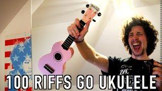 Top 100 Greatest Guitar Riffs on the UKULELE! - rock and roll music ukulele chords
