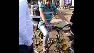 Truck Horn Fitted on a Cycle by a Punjabi Boy