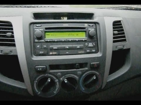 hqdefault toyota hilux radio head unit removal remove radio ausbauen toyota hilux stereo wiring diagram at bayanpartner.co