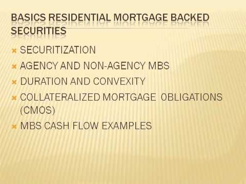 Overview of Mortgage securities and consumer mortgage market