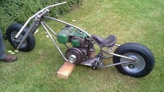 Homemade Mini Bike Chopper Bobber Pt. 1 (gopro)