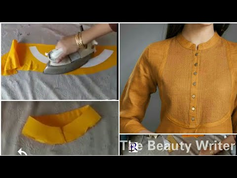 kurti collar neck cutting Simple & Easy Method - Cutting & Stitching tutorial